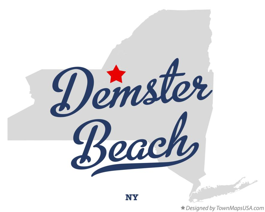 Map of Demster Beach New York NY
