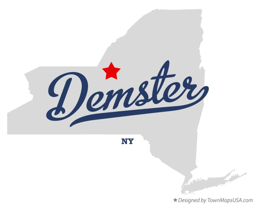Map of Demster New York NY