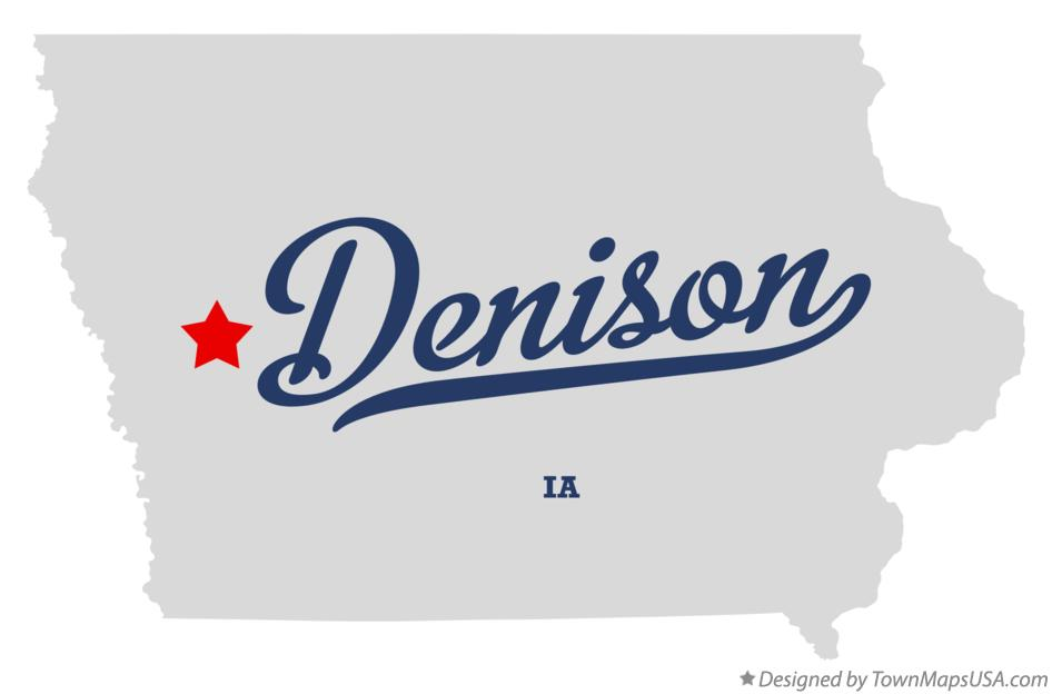 Map of Denison Iowa IA