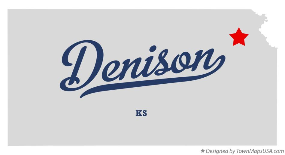 Map of Denison Kansas KS