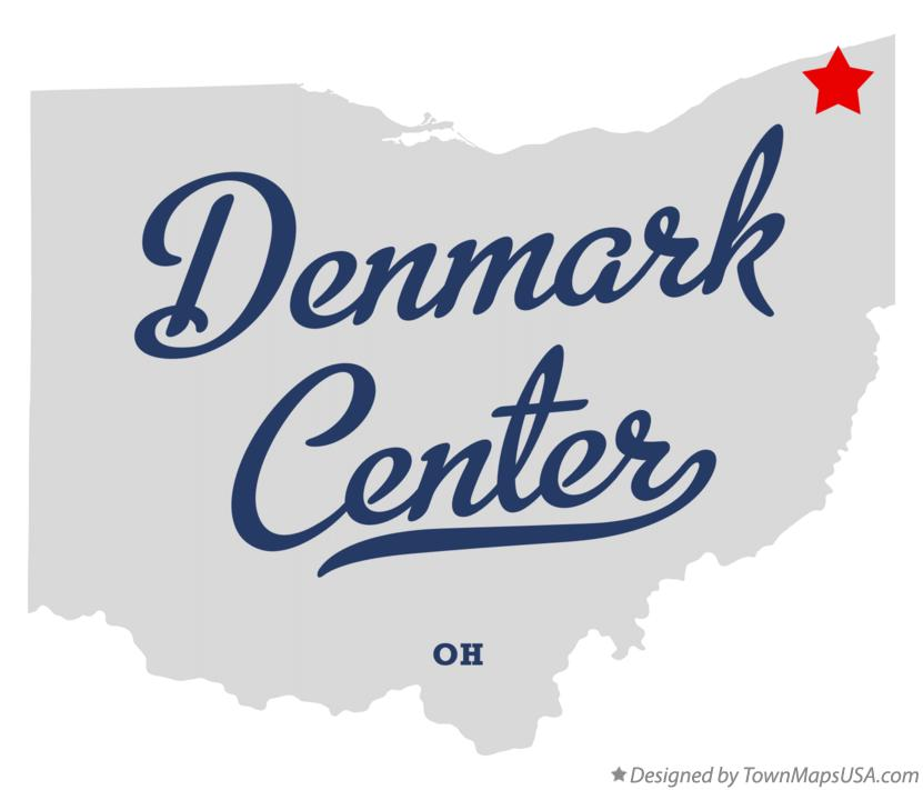 Map of Denmark Center Ohio OH