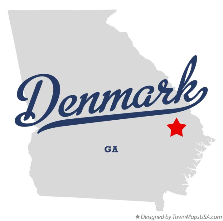 Map of Denmark Georgia GA