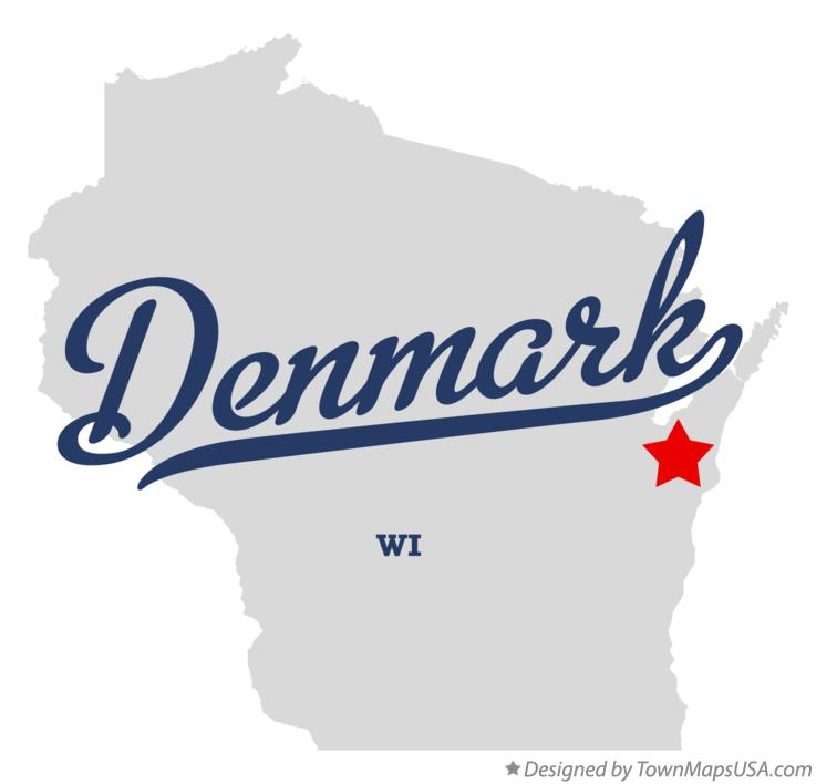 Map of Denmark Wisconsin WI