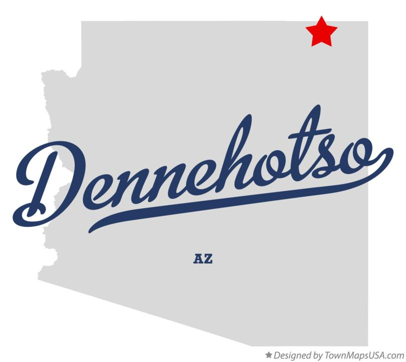 Map of Dennehotso Arizona AZ