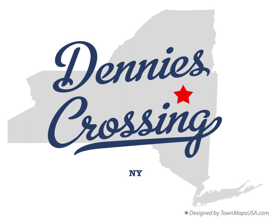 Map of Dennies Crossing New York NY