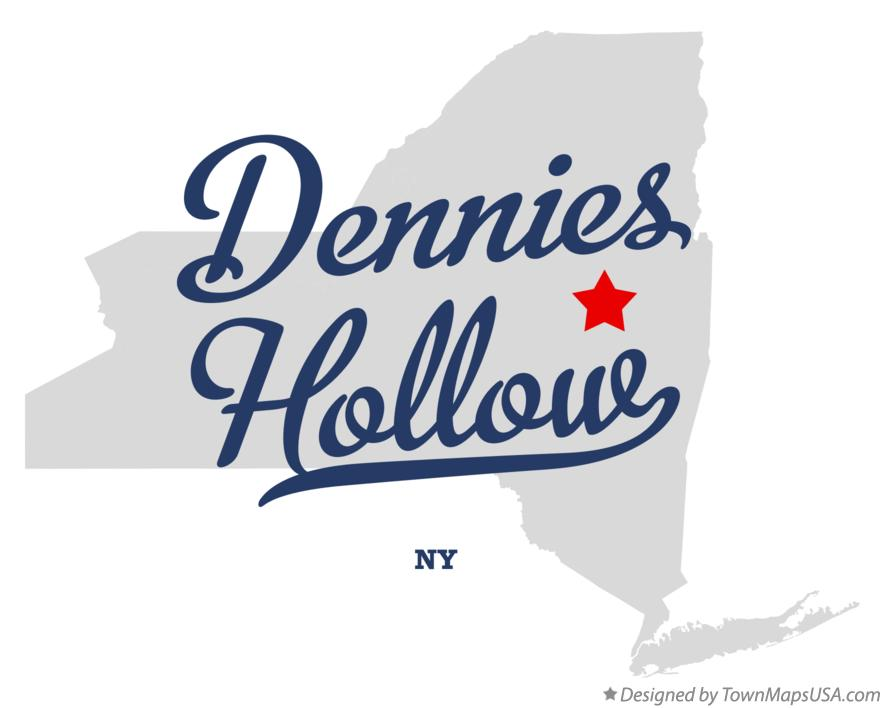Map of Dennies Hollow New York NY