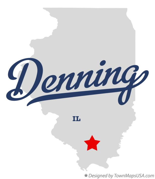 Map of Denning Illinois IL
