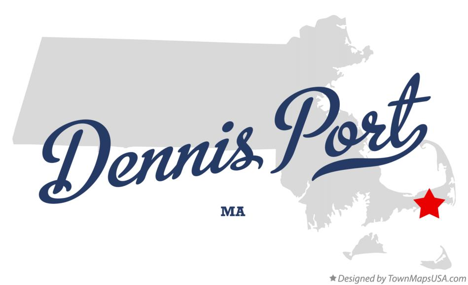 Map of Dennis Port Massachusetts MA