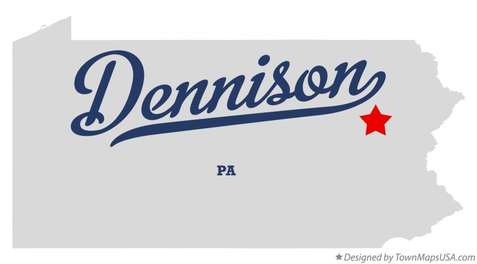 Map of Dennison Pennsylvania PA