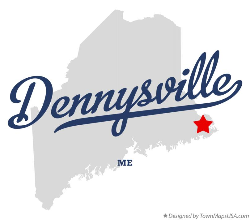 Map of Dennysville Maine ME