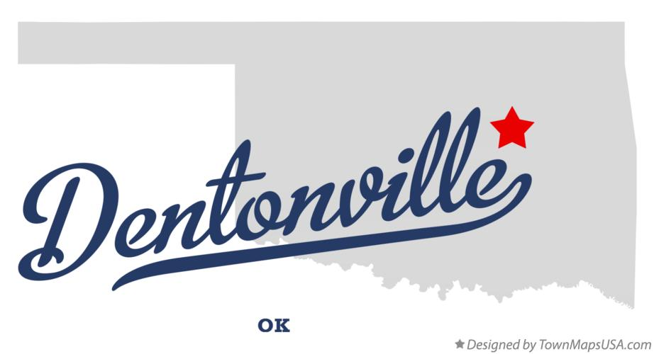 Map of Dentonville Oklahoma OK