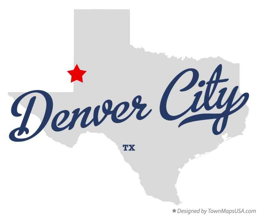 Map of Denver City Texas TX