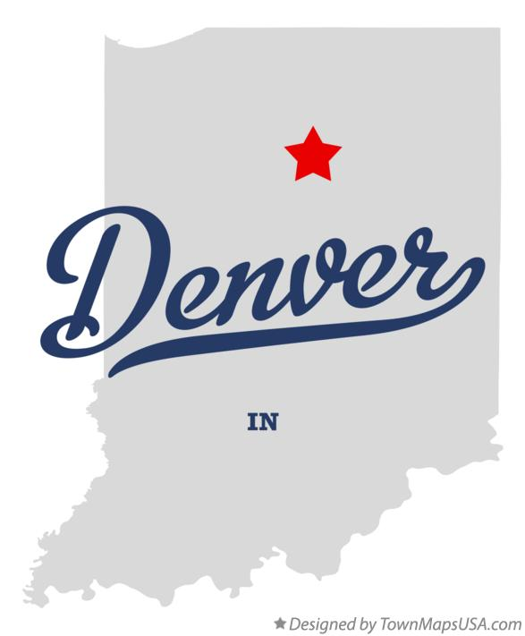 Map of Denver Indiana IN