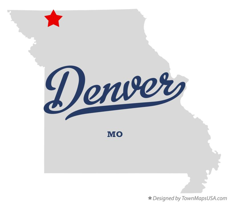Map of Denver Missouri MO