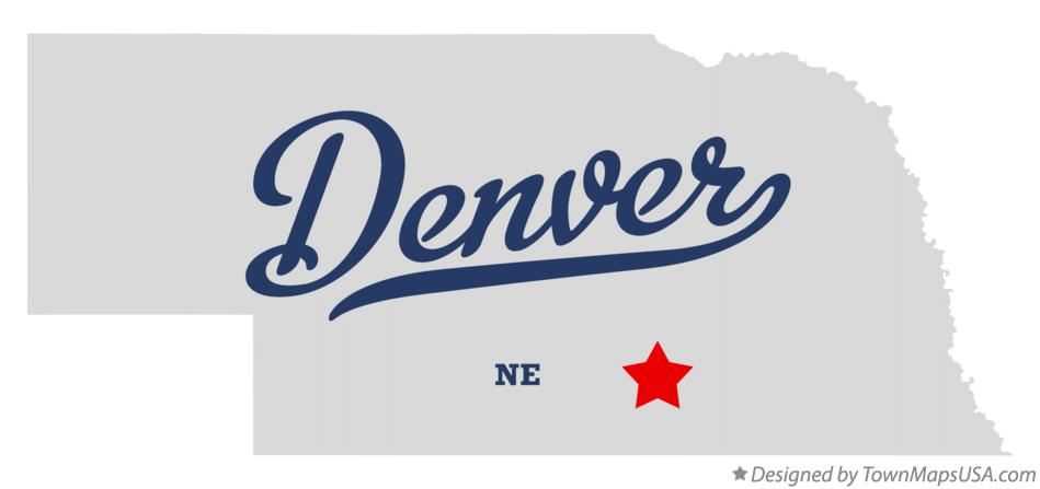 Map of Denver Nebraska NE