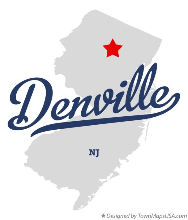 Map of Denville New Jersey NJ