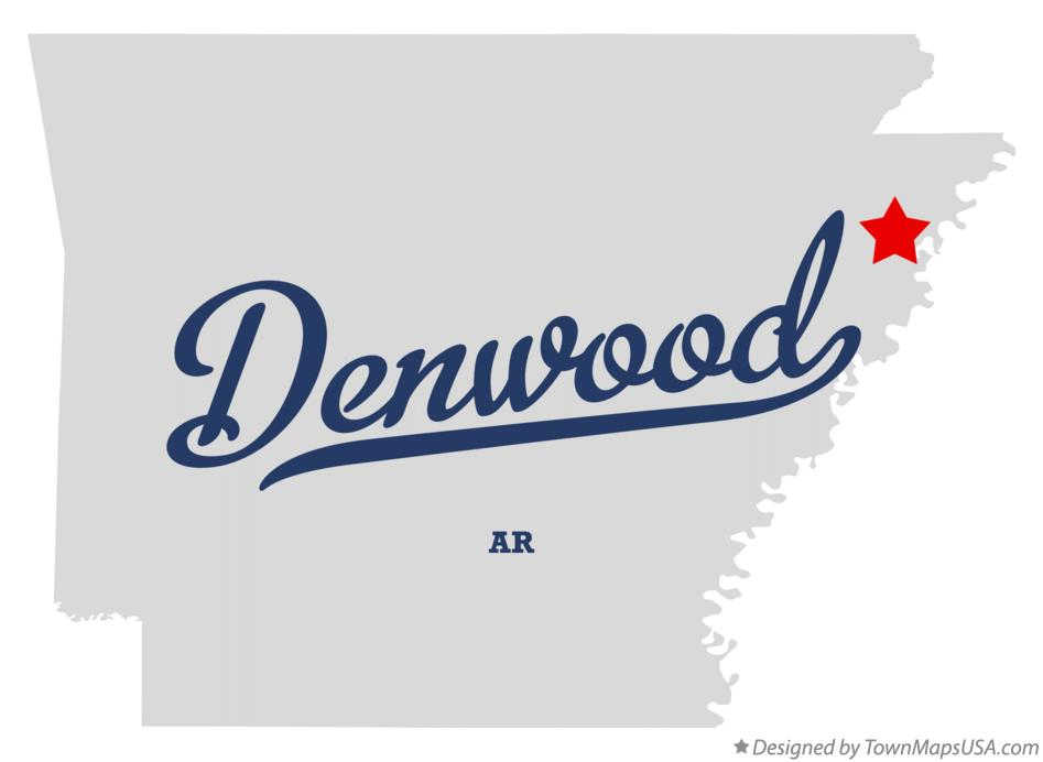 Map of Denwood Arkansas AR