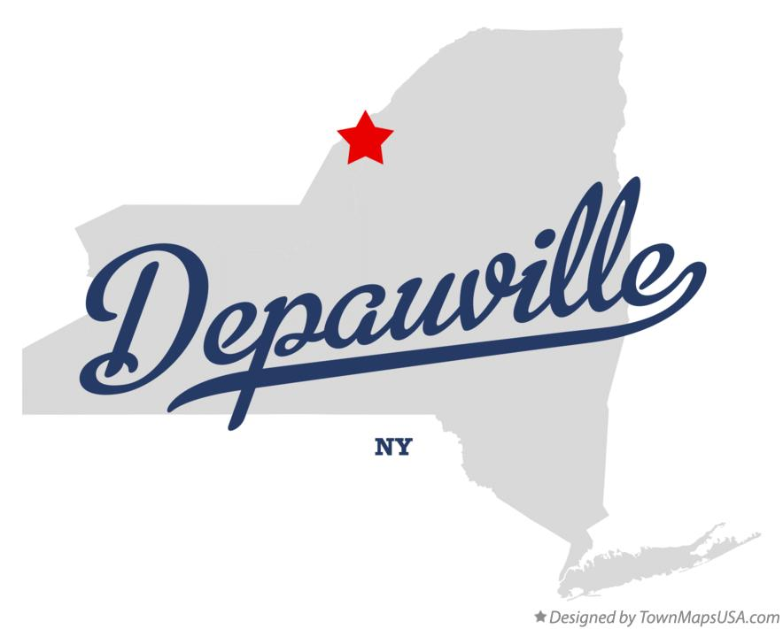 Map of Depauville New York NY