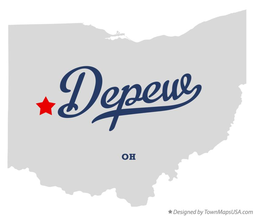 Map of Depew Ohio OH