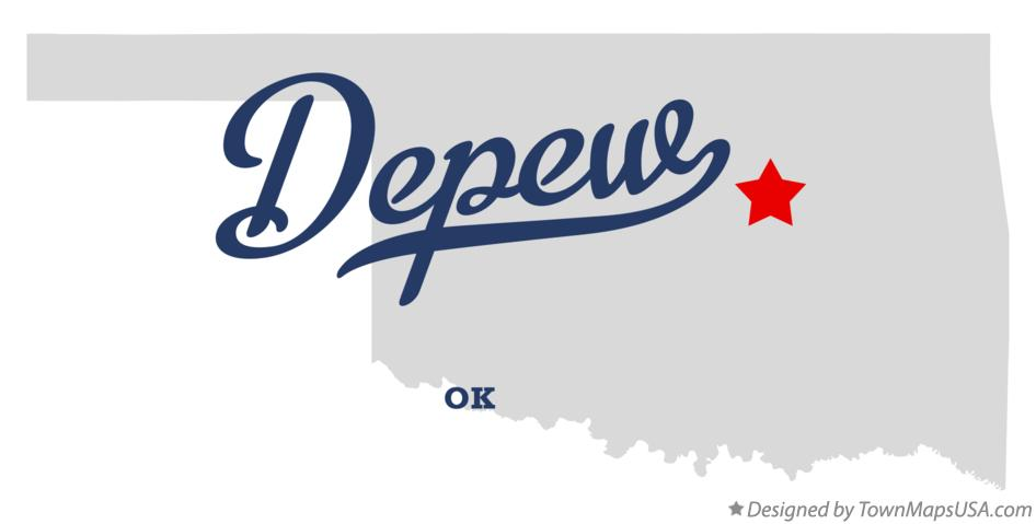 Map of Depew Oklahoma OK