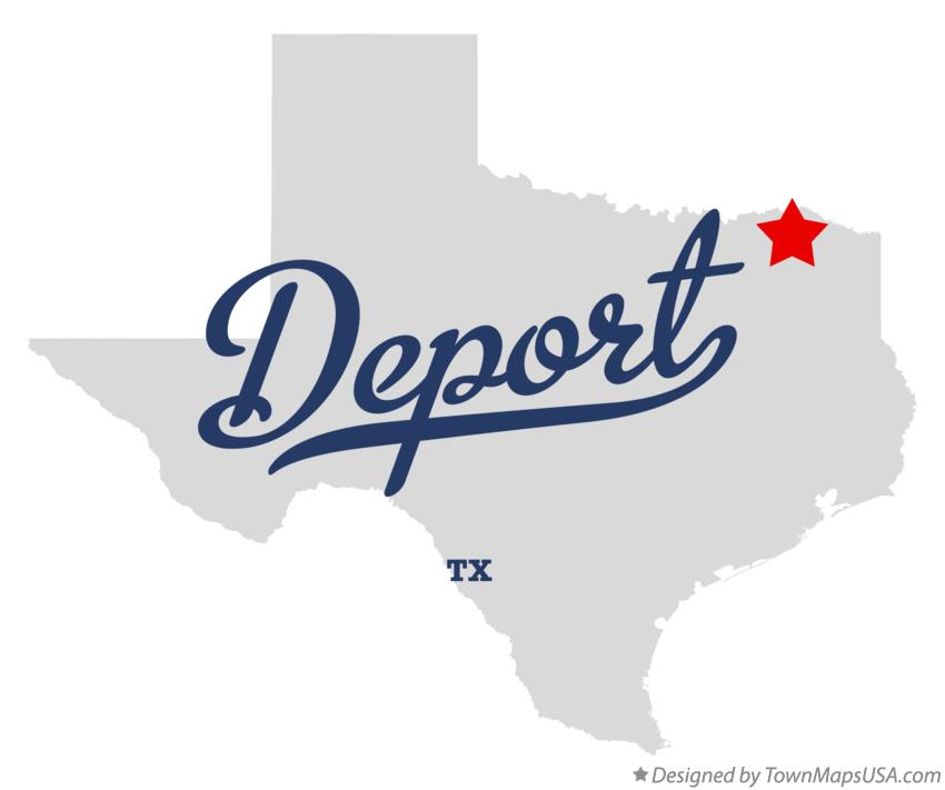 Map of Deport Texas TX