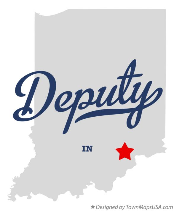 Map of Deputy Indiana IN
