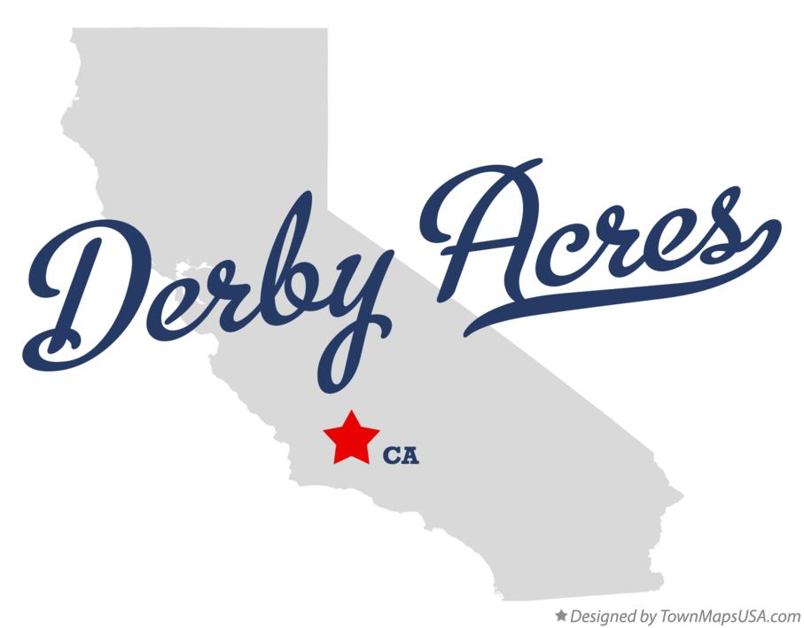 Map of Derby Acres California CA