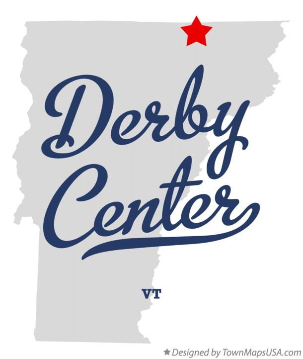 Map of Derby Center Vermont VT