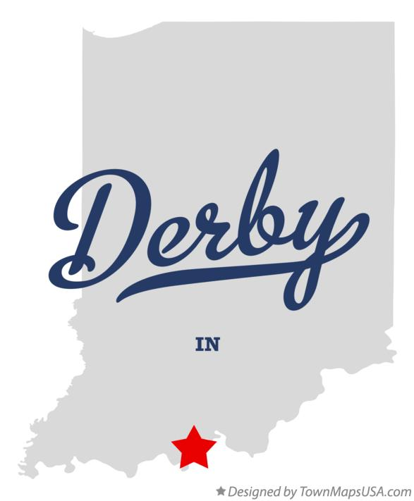 Map of Derby Indiana IN