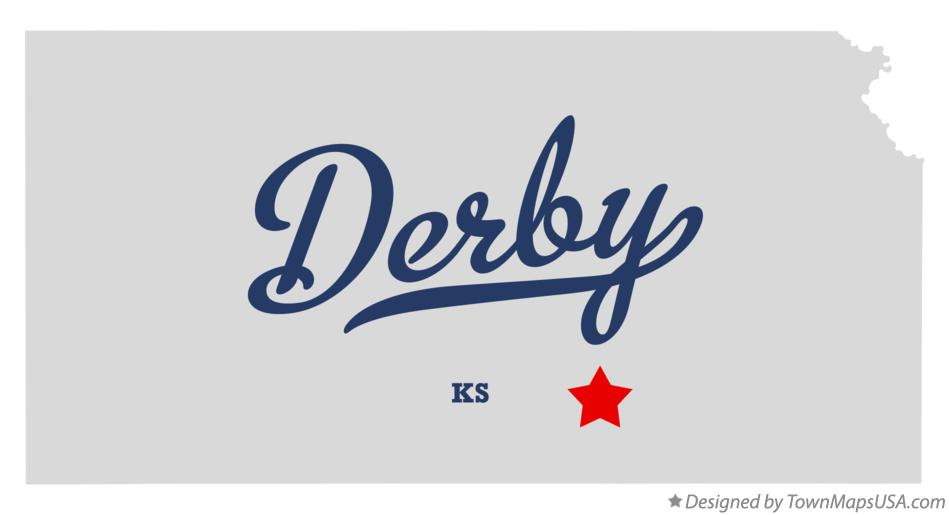 Map of Derby Kansas KS