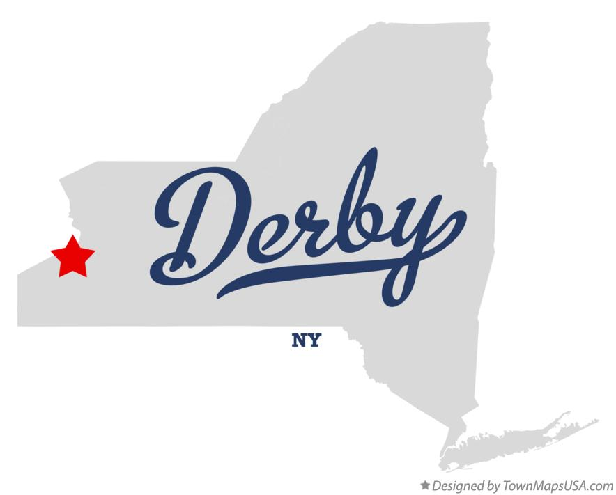 Map of Derby New York NY