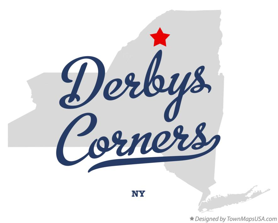 Map of Derbys Corners New York NY