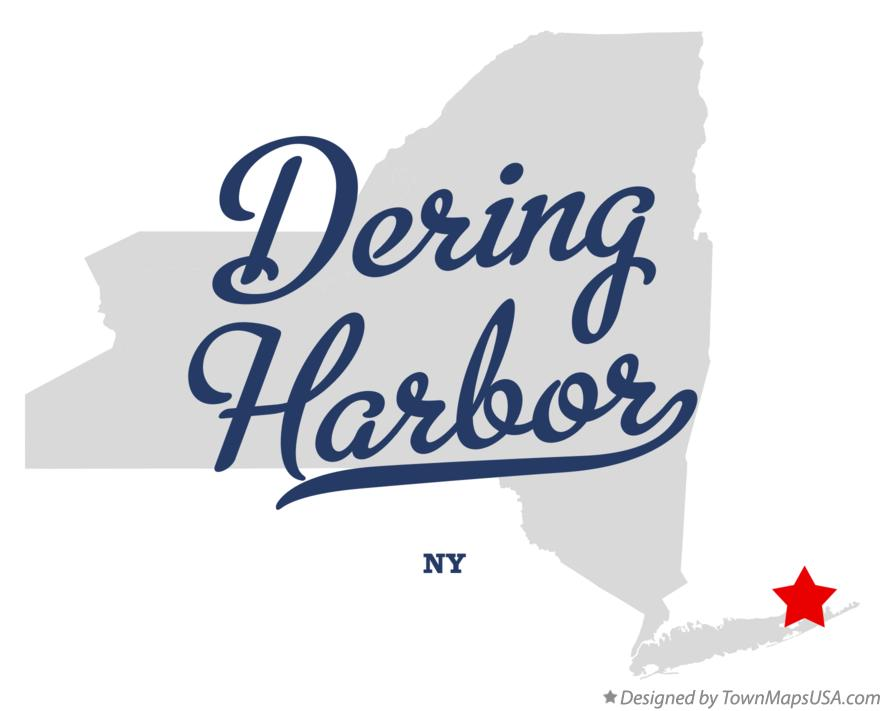 Map of Dering Harbor New York NY