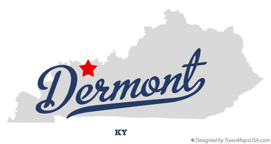 Map of Dermont Kentucky KY