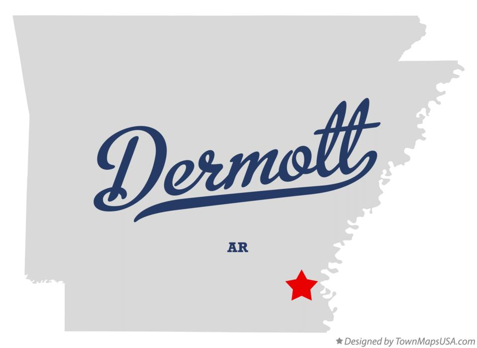 Map of Dermott Arkansas AR