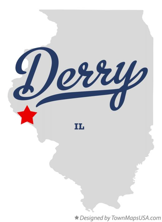 Map of Derry Illinois IL
