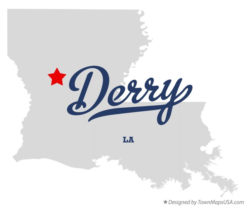 Map of Derry Louisiana LA
