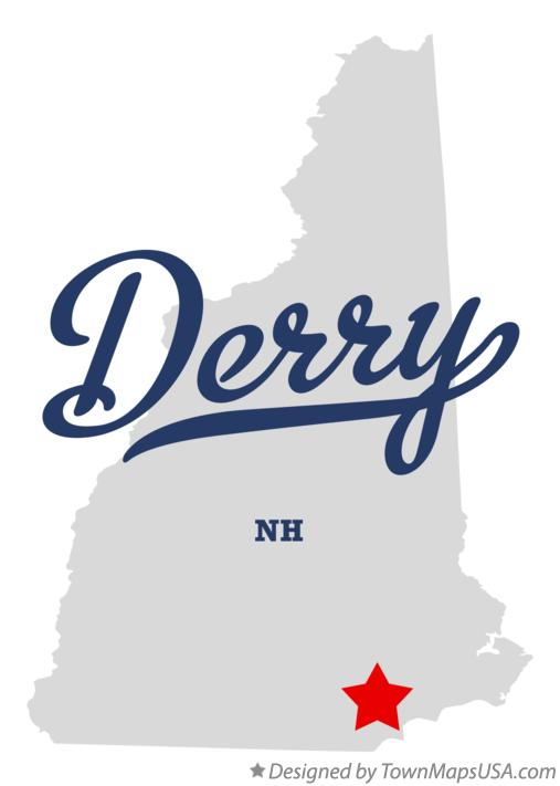 Map of Derry New Hampshire NH