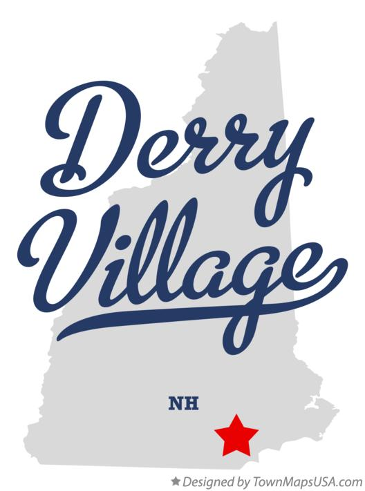 Map of Derry Village New Hampshire NH