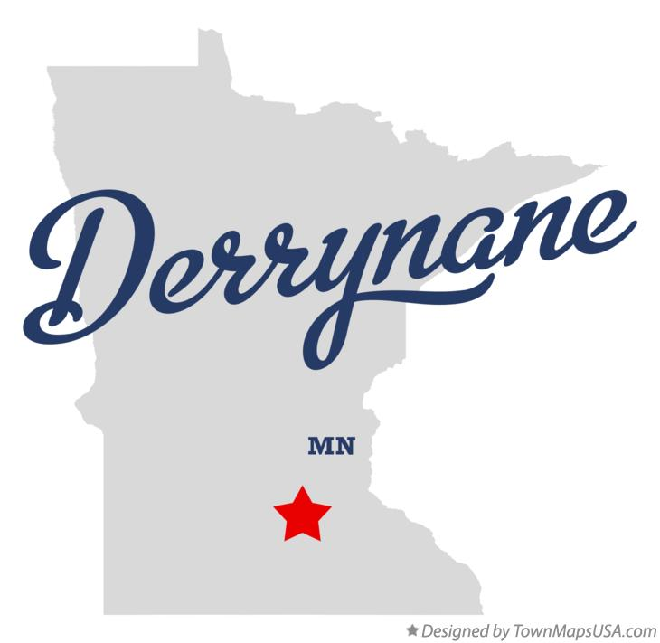 Map of Derrynane Minnesota MN