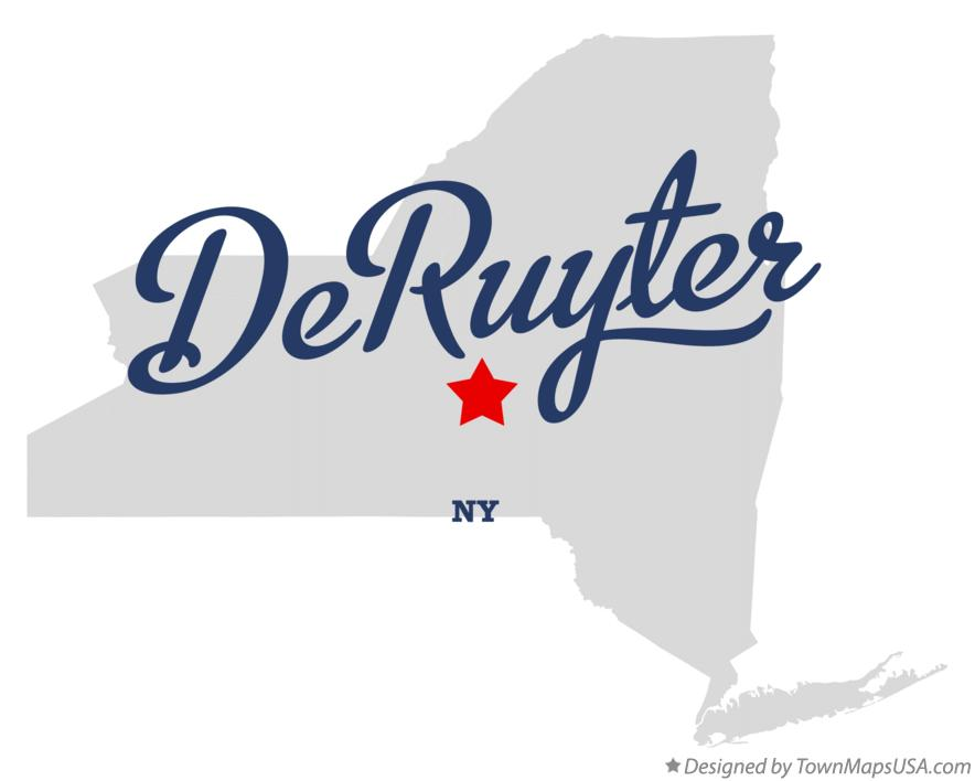 Map of DeRuyter New York NY