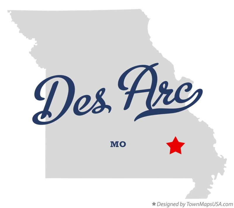 Map of Des Arc Missouri MO