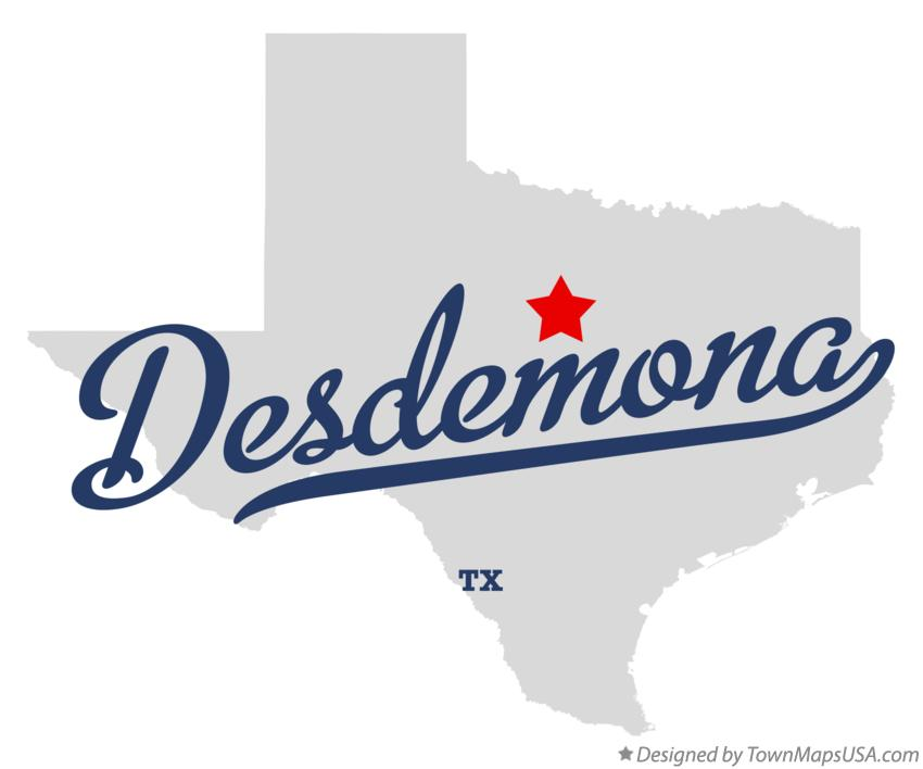Map of Desdemona Texas TX
