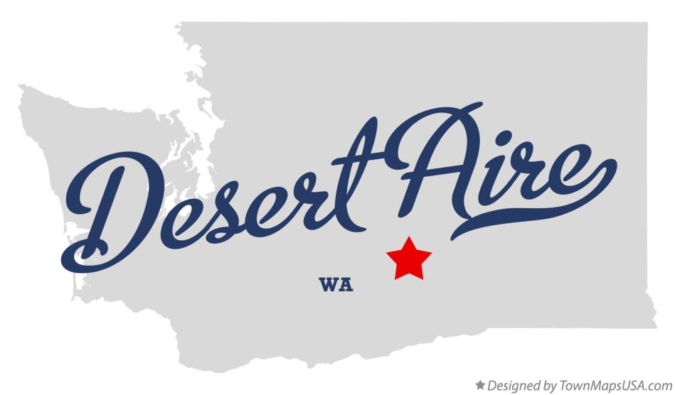 Map of Desert Aire Washington WA