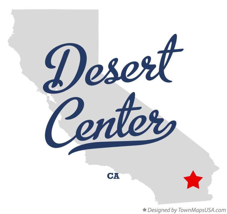 Map of Desert Center California CA