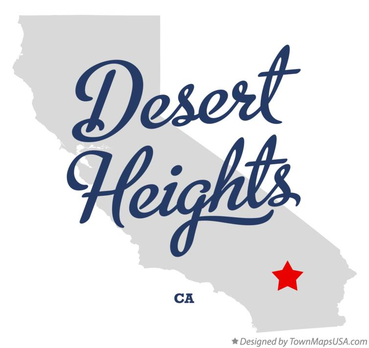 Map of Desert Heights California CA