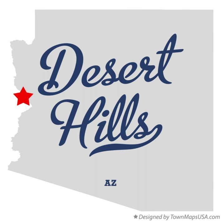 Map of Desert Hills Arizona AZ