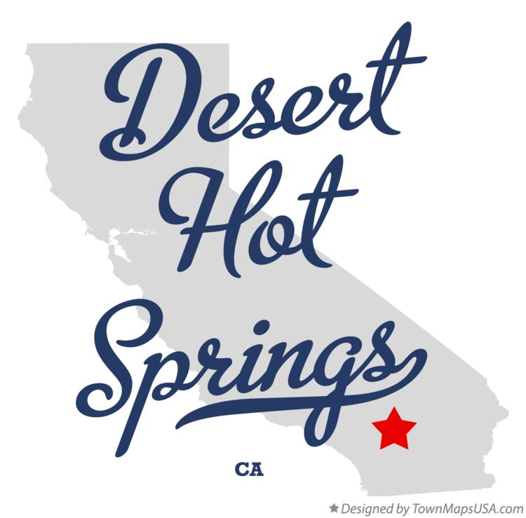 Map of Desert Hot Springs California CA