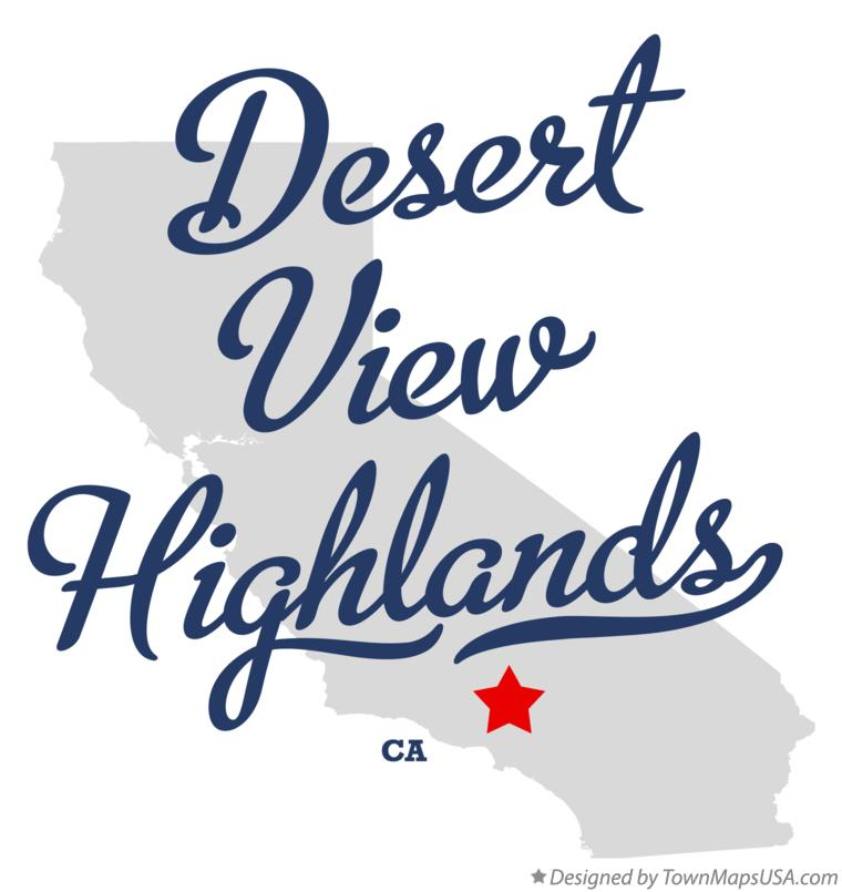 Map of Desert View Highlands California CA