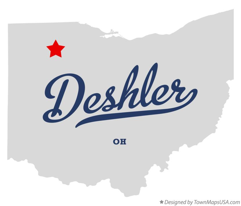 Deshler Ohio Map.Map Of Deshler Oh Ohio